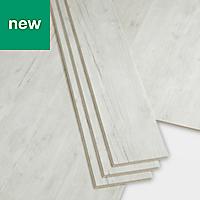 GoodHome Bachata Rustic white Wood effect Luxury vinyl click flooring, 2.56m² Pack