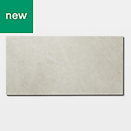 GoodHome Jazy Ivory Tile effect Luxury vinyl click flooring, 1.86m² Pack
