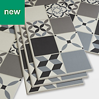 GoodHome Jazy Grey Mosaic effect Luxury vinyl click flooring, 2.23m² Pack