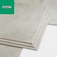 GoodHome Jazy Light grey Tile effect Luxury vinyl click flooring, 2.23m² Pack