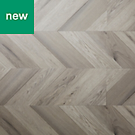 GoodHome Jazy Grey Parquet effect Luxury vinyl click flooring, 2.24m² Pack