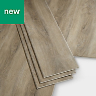 GoodHome Jazy Natural grey Wood effect Luxury vinyl click flooring, 2.24m² Pack