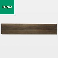 GoodHome Jazy Mid brown Wood effect Luxury vinyl click flooring, 2.24m² Pack
