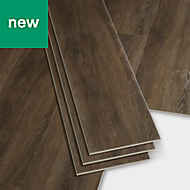 GoodHome Jazy Mid brown Wood effect Luxury vinyl click flooring, 2.24m² Pack