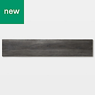 GoodHome Jazy Dark grey Wood effect Luxury vinyl click flooring, 2.24m² Pack