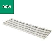 Grey & white Flat mop head refill