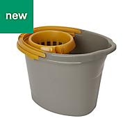 Grey & yellow Mop bucket & wringer