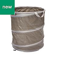Verve Grey Polyethylene high density Pop up bag 120L