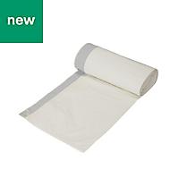 White Recycled high density polyethylene Bin bag 40L, Pack of 20