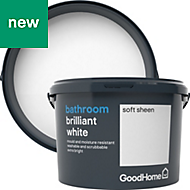 GoodHome Bathroom Brilliant white Soft sheen Emulsion paint 2.5L
