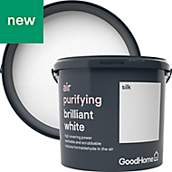 GoodHome Air purifying Brilliant white Silk Emulsion paint, 5L