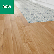 GoodHome Visby Natural Oak Solid wood flooring, 1.29m² Pack