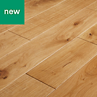GoodHome Visby Natural Oak Solid wood flooring, 1.44m² Pack