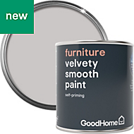 GoodHome White plains Matt Furniture paint 125ml