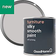 GoodHome White plains Satin Furniture paint 125ml