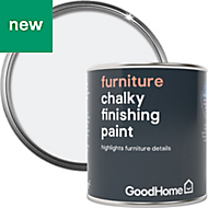 GoodHome North Pole (Brilliant White) Chalky Furniture paint 125ml
