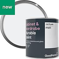 GoodHome Durable North pole Matt Cabinet & wardrobe paint 750ml