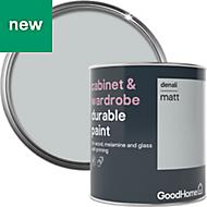 GoodHome Durable Denali Matt Cabinet & wardrobe paint 750ml