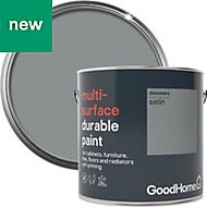 GoodHome Durable Delaware Satin Multi-surface paint 2L
