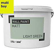Light green Matt Emulsion paint 2.5L