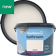 GoodHome Bathroom Ottawa Soft sheen Emulsion paint 2.5L