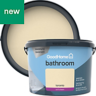 GoodHome Bathroom Toronto Soft sheen Emulsion paint 2.5L