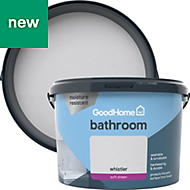 GoodHome Bathroom Whistler Soft sheen Emulsion paint 2.5L