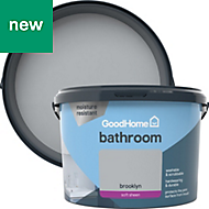 GoodHome Bathroom Brooklyn Soft sheen Emulsion paint 2.5L