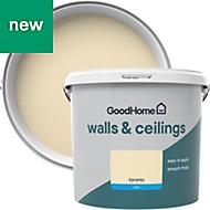 GoodHome Walls & ceilings Toronto Matt Emulsion paint 5L