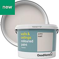 GoodHome Walls & ceilings Quebec Matt Emulsion paint 2.5L