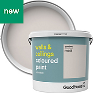 GoodHome Walls & ceilings Quebec Matt Emulsion paint 5L