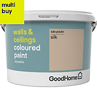GoodHome Walls & ceilings Sao paulo Silk Emulsion paint 2.5L