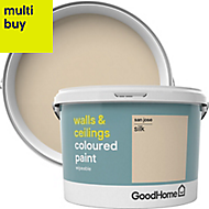 GoodHome Walls & ceilings San jose Silk Emulsion paint 2.5L