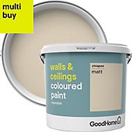 GoodHome Walls & ceilings Chiapas Matt Emulsion paint 5L