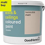 GoodHome Walls & ceilings Buenos aires Matt Emulsion paint 5L