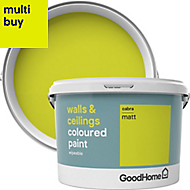 GoodHome Walls & ceilings Cabra Matt Emulsion paint 2.5L