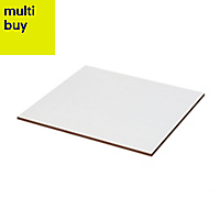 Monzie White Satin Ceramic Wall & floor tile, (L)333mm (W)333mm, Sample