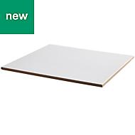 Monzie White Satin Ceramic Wall & floor tile, Pack of 13, (L)333mm (W)333mm