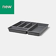 GoodHome Nitaki Plastic Cutlery tray, (H)60mm (W)424mm