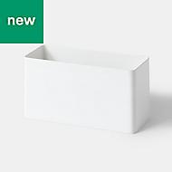 GoodHome Budu White Utensil holder, (H)12.6cm (W)25cm