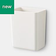 GoodHome Pecel White Magnetic Utensil holder, (H)12cm (W)10cm