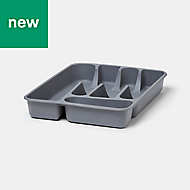 GoodHome Datil Plastic Cutlery tray, (H)51mm (W)260mm