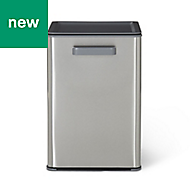 GoodHome Kora Brushed Anthracite Metal & plastic Pull out bin, 13L