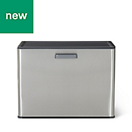 GoodHome Kora Brushed Anthracite Metal & plastic Pull out bin, 30L