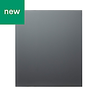GoodHome Nashi Anthracite Glass effect Tempered glass Splashback, (H)800mm (W)600mm (T)5mm