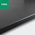 22mm GoodHome Algiata Grey Matt Laminate Worktop (L)3m (D)620mm