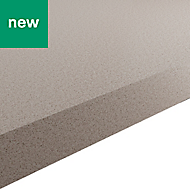 38mm Kala Matt Light Quartz Stone effect Laminate Square edge Kitchen Worktop, (L)3000mm