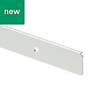 GoodHome Nantua Brushed Silver effect Aluminium alloy Worktop end cap