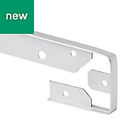 GoodHome Nantua Brushed Silver effect Aluminium alloy Worktop joint