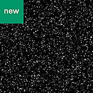 0.5mm Berberis Gloss Black Star effect Laminate Square edge Kitchen Worktop, (L)160mm